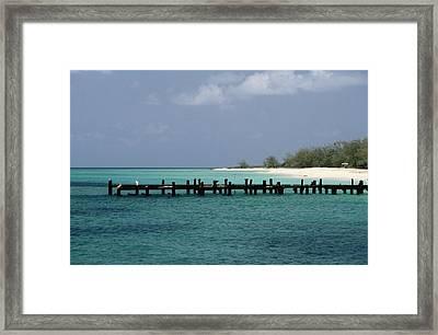 An Old Pier Of Grand Turk Island Framed Print by Wolcott Henry