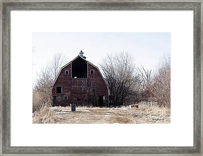 An Old Red Barn Framed Print by Yumi Johnson