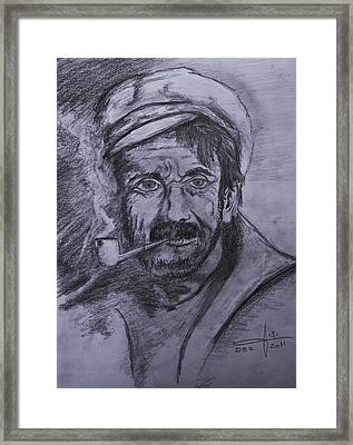 An Old Sailor Framed Print by Itzhak Richter