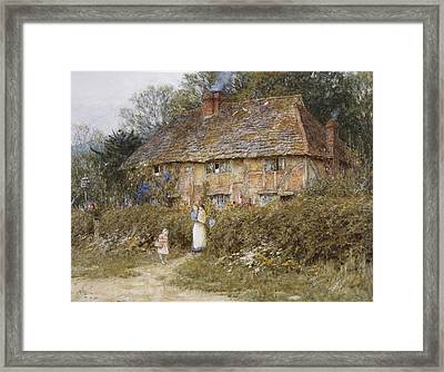 An Old Surrey Cottage Framed Print by Helen Allingham