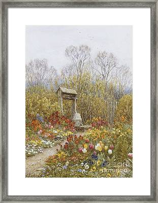 An Old Well Brook Surrey Framed Print by Helen Allingham