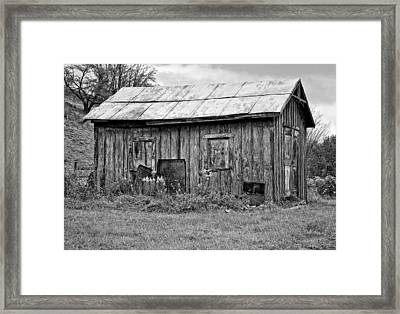 An Orderly World Monochrome Framed Print