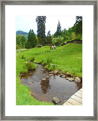 Framed Print featuring the photograph An Organic Farm Valerie's Place  by Mindy Bench