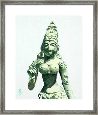 Framed Print featuring the painting An Oriental Statue At The Toledo Museum Of Art-4 by Yoshiko Mishina