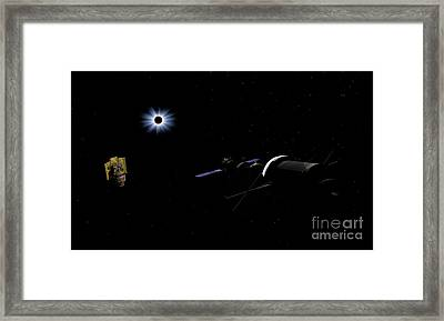 An Orion Class Crew Exploration Vehicle Framed Print by Walter Myers