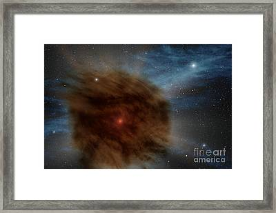 An Outer Shell Of Gas And Dust From An Framed Print by Stocktrek Images