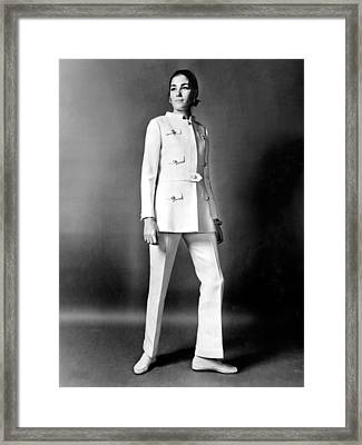 An Outfit By Oscar De La Renta Framed Print by Everett