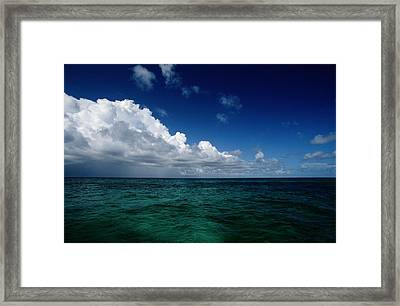 An Overall Scenic From Grand Turk Framed Print by Wolcott Henry