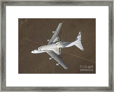 An Overhead View Of Atlantis Atop Framed Print by Stocktrek Images