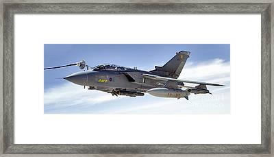 An Raf Tornado Gr-4 Takes On Fuel Framed Print by Stocktrek Images