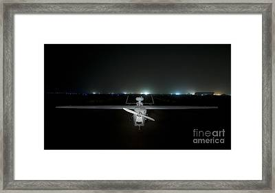 An Rq-5 Hunter Unmanned Aerial Vehicle Framed Print by Terry Moore
