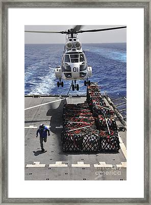 An Sa-330j Puma Helicopter Picking Framed Print
