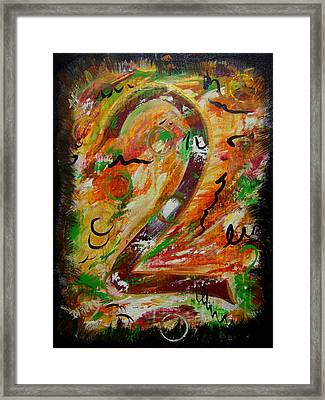 An Uncertain Relationship Framed Print by Donna Blackhall