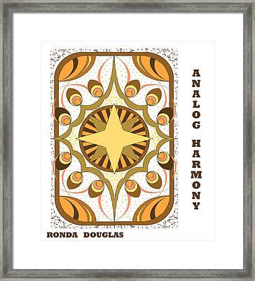 Analog Harmony Framed Print