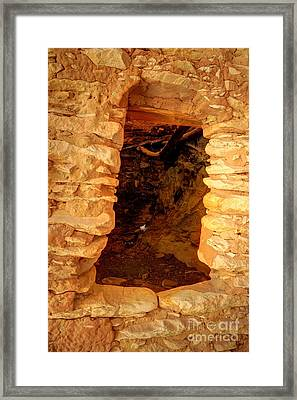 Anasazi Doorway - Tower Ruins - Comb Ridge Framed Print