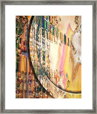 Framed Print featuring the digital art Anasazi by Steve Sperry