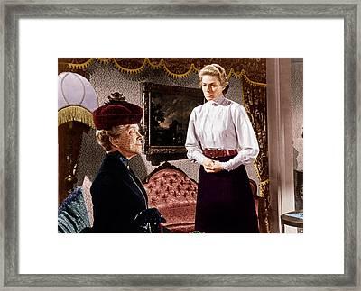 Anastasia, From Left Helen Hayes Framed Print by Everett