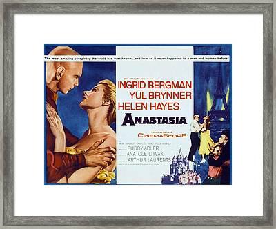 Anastasia, Yul Brynner, Ingrid Bergman Framed Print by Everett