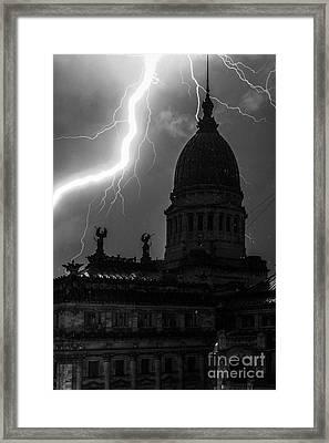 Anatomy Of A Storm Framed Print by Balanced Art