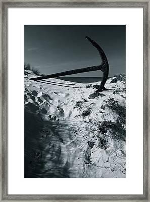 Anchor Beach 11 Framed Print by Jez C Self