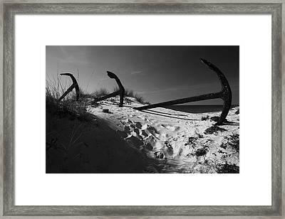 Anchor Beach 12 Framed Print by Jez C Self