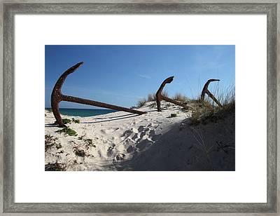 Anchor Beach 13 Framed Print by Jez C Self