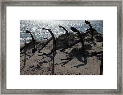 Anchor Beach 15 Framed Print by Jez C Self