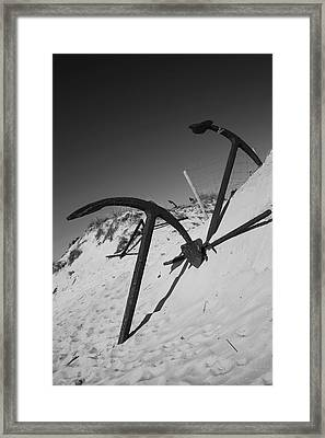 Anchor Beach 4 Framed Print by Jez C Self
