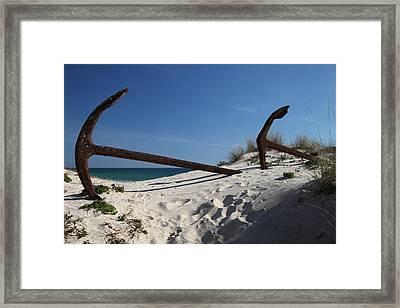 Anchor Beach 8 Framed Print by Jez C Self