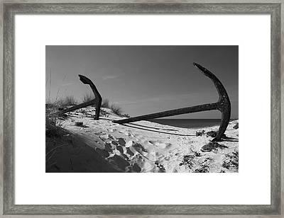 Anchor Beach 9 Framed Print by Jez C Self