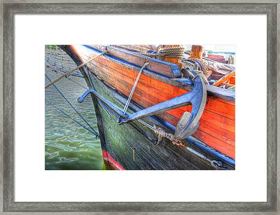 Anchor Setting Framed Print by Barry R Jones Jr