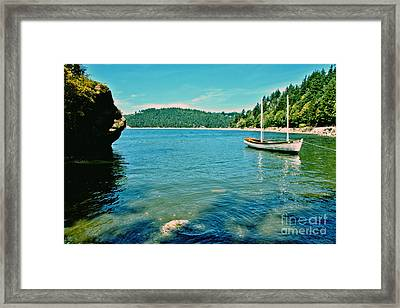Framed Print featuring the photograph Anchored In Bay by Michelle Joseph-Long
