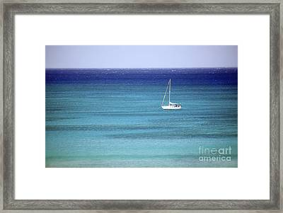 Anchored In Paradise Framed Print by Glennis Siverson