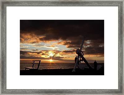 Anchored To The View Framed Print