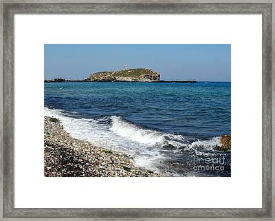 Ancient Arch Of Apollo In Greece Framed Print by Sabrina L Ryan