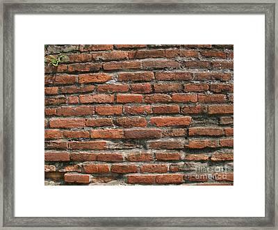 Ancient Brick Wall Framed Print by Yali Shi