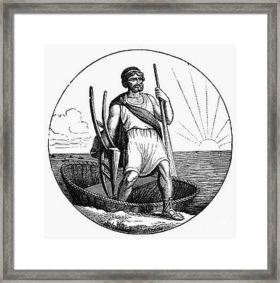 Ancient Briton Coracle Framed Print by Granger