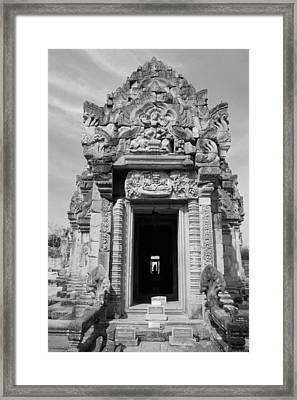 Ancient Castle At Thailand. Framed Print by Phalakon Jaisangat