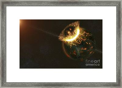 Ancient Earth Impact Framed Print by Fahad Sulehria