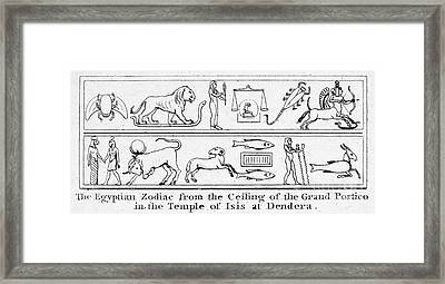 Ancient Egypt: Zodiac Framed Print
