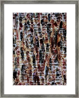 Ancient Etch Framed Print by TB Schenck