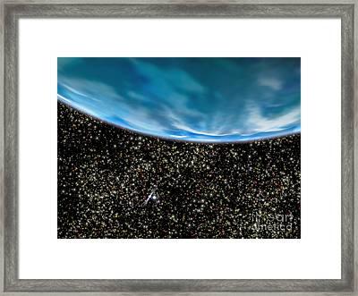 Ancient Gas Giant In M4 Globular Framed Print