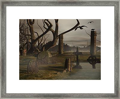 Ancient Graveyard Framed Print by Tea Aira