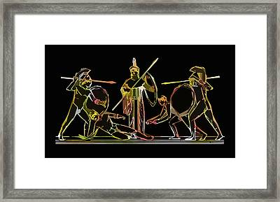 Ancient Greek Soldiers Framed Print by James Hill