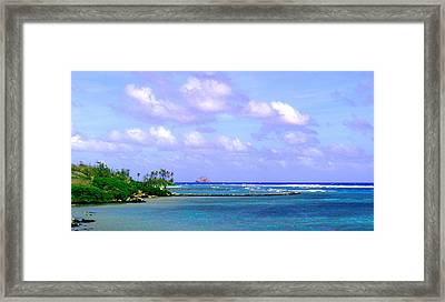Ancient Hawaiian Fish Pond Framed Print