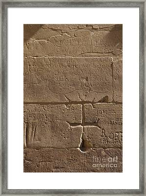 Ancient Hieroglyphics Framed Print by Adam Crowley