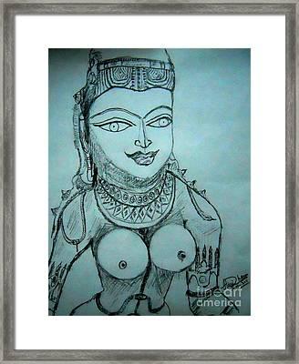 Ancient Indian Sculpture Framed Print by Hari Om Prakash