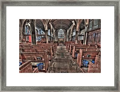 Ancient Lingfield Church Framed Print by Donald Davis