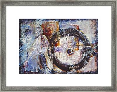 Ancient Messages  No.154 Framed Print by Catherine Foster