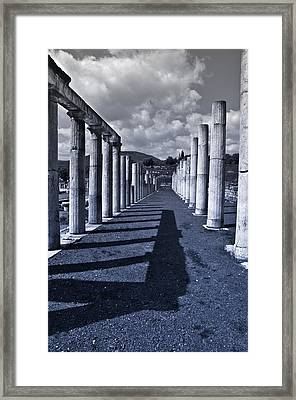 Ancient Messini Greece Framed Print